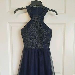 f3b1551ec83 Xtraordinary. SHORT NAVY BLUE PROM HOMECOMING DRESS